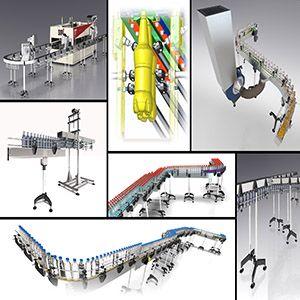 Transportadores y sistemas de manipulación de botellas