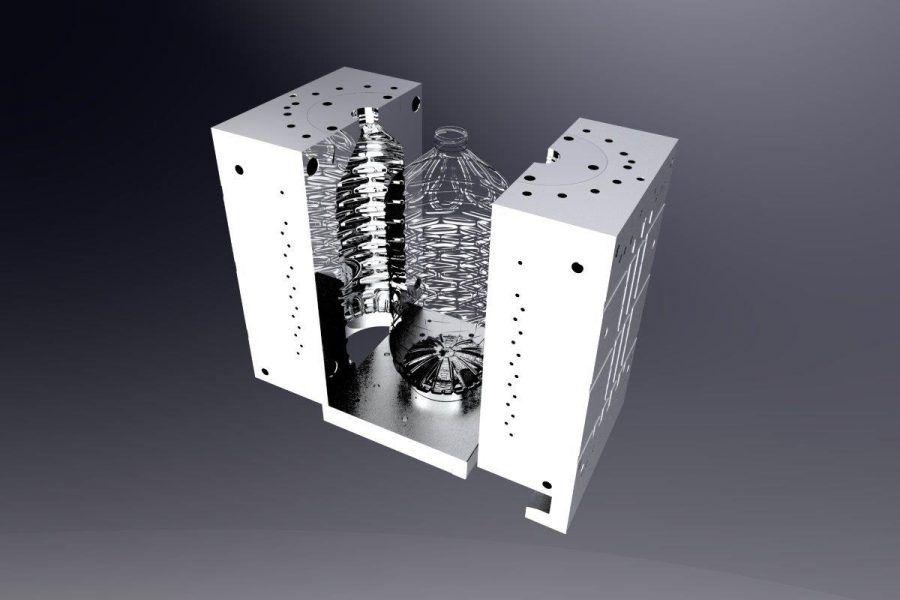 10l blowing mould_semi automatic blower