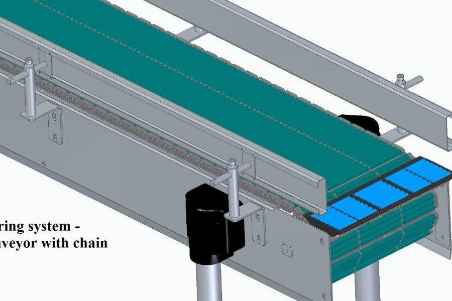 buffer conveyor with chain