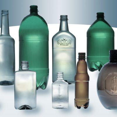 Garrafas para álcool e cerveja