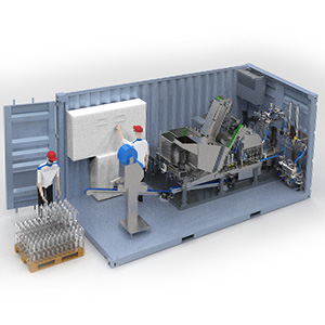 Fabrik in einem Container